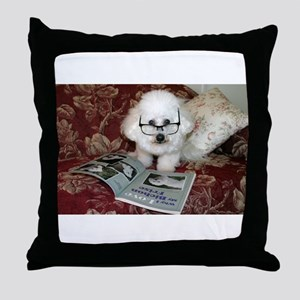 You just Gotta Love a Bichon  Throw Pillow