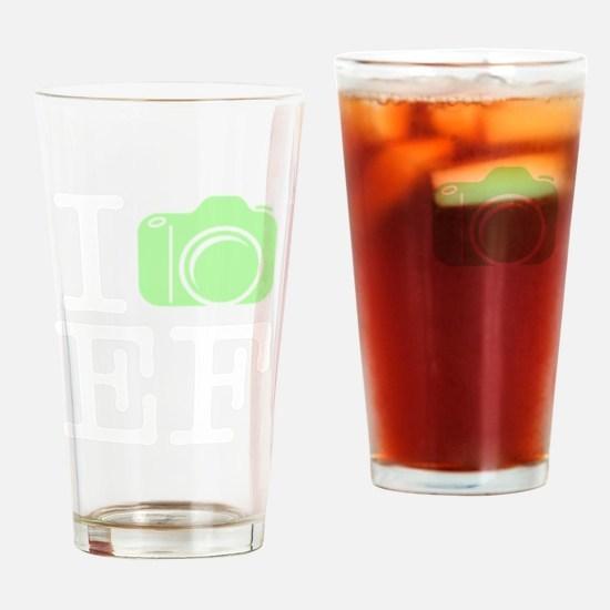 I_Shoot_EF_Green Drinking Glass