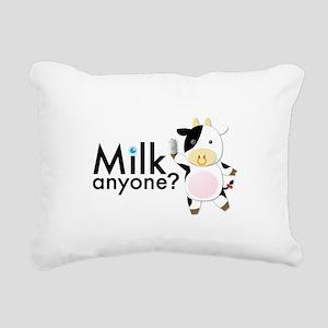 Milk Anyone? Rectangular Canvas Pillow