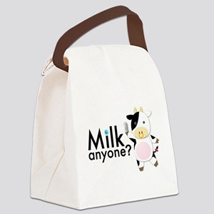 Milk Anyone? Canvas Lunch Bag