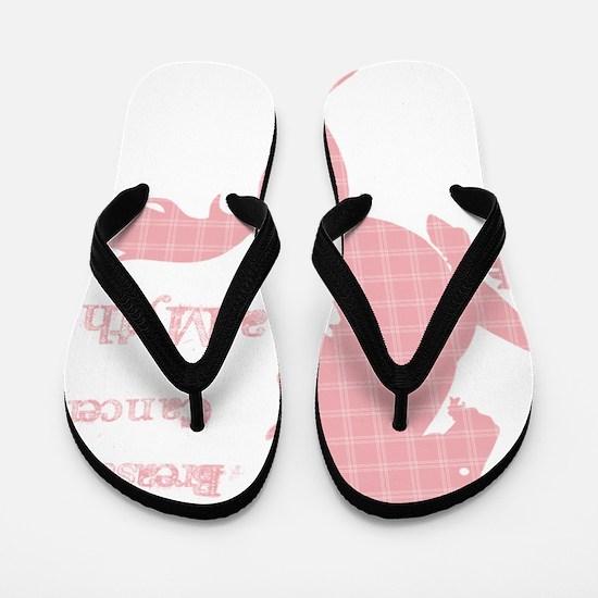 unicornplaid1BC2 Flip Flops