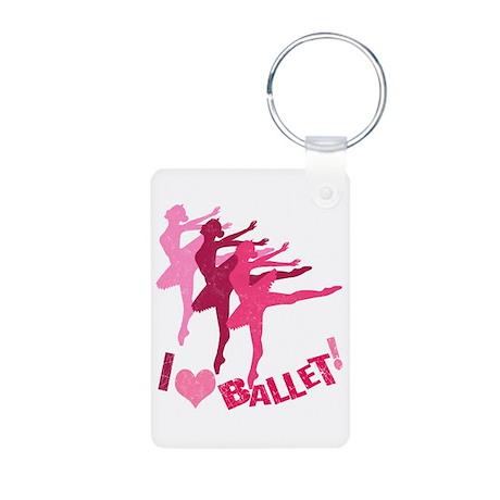 Ballet Aluminum Photo Keychain