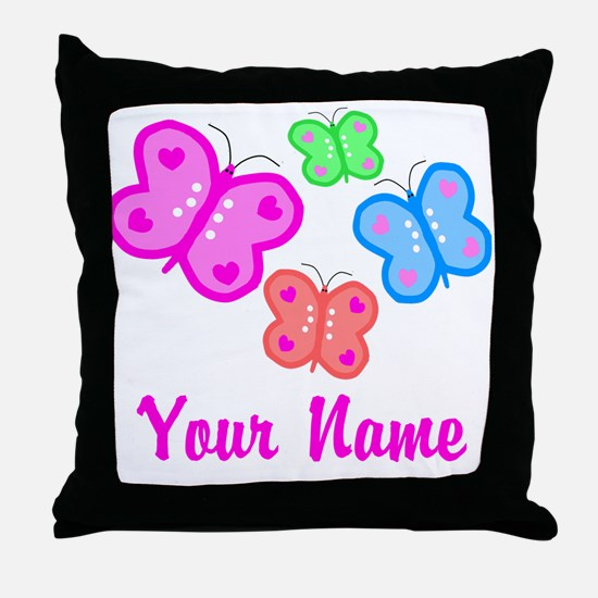 Butterflies Personalized Throw Pillow