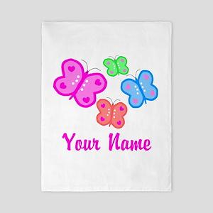 Butterflies Personalized Twin Duvet