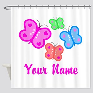 Butterflies Personalized Shower Curtain
