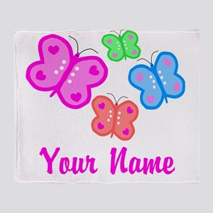 Butterflies Personalized Throw Blanket