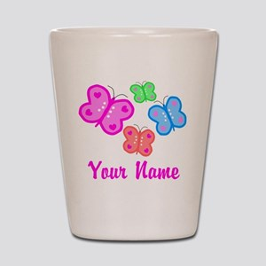 Butterflies Personalized Shot Glass