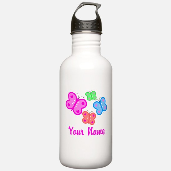 Butterflies Personalized Water Bottle