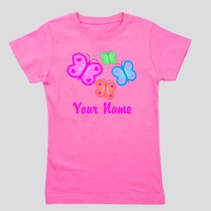 Butterflies Personalized Girl's Tee