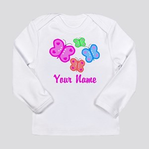 Butterflies Personalized Long Sleeve T-Shirt