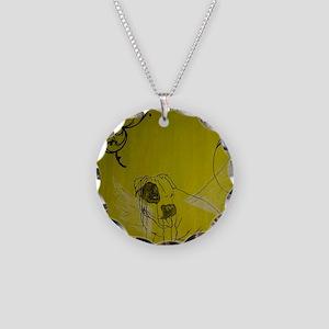 popeye dog Necklace Circle Charm