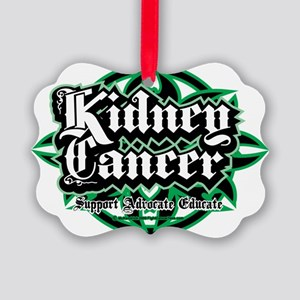 Kidney-Cancer-Tribal Picture Ornament