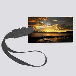 Alone In The Dusk Large Luggage Tag