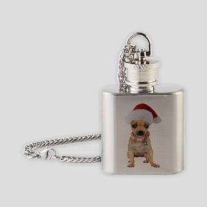 Chihuahua Santa Flask Necklace