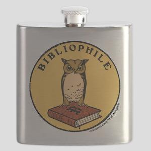 Bibliophile Seal (w/ text) Flask