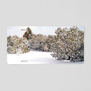 2-Magic Chrst Tree Aluminum License Plate