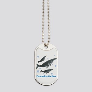 Personalized Humpback Whale Dog Tags