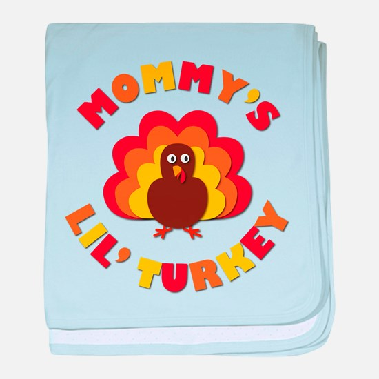 Mommys Lil Turkey baby blanket