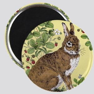 Bunny in the Berry Patch-tile Magnet