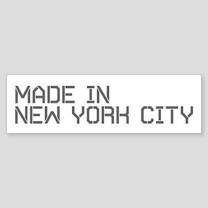 MADE IN NYC Bumper Sticker