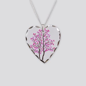 pink_tree Necklace Heart Charm