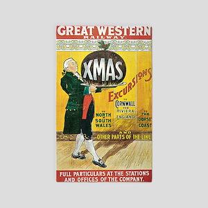Great Western Railway Christmas Exc 3'x5' Area Rug