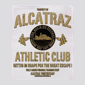 PROPERTY_OF_ALCATRAZ_ATHLETIC_CLUB-2 Throw Blanket