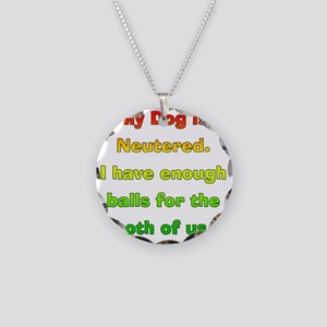 My_Dog_Is_Neutered Necklace Circle Charm
