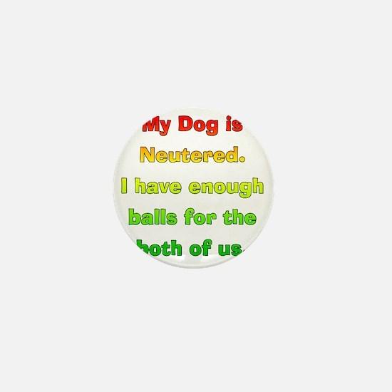 My_Dog_Is_Neutered Mini Button