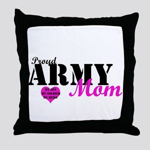 Army Moms Throw Pillow