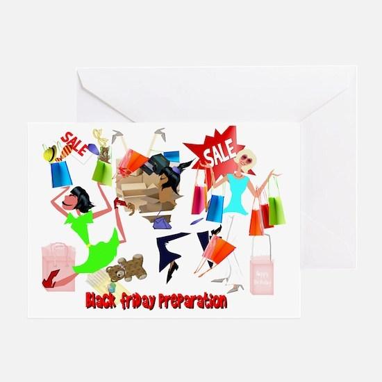 Bllack Friday Preparation 4x3Trans Greeting Card