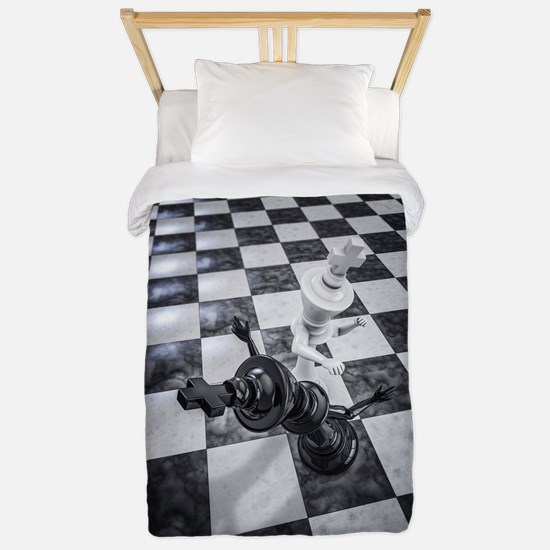 Checkmate Knockout Twin Duvet Cover