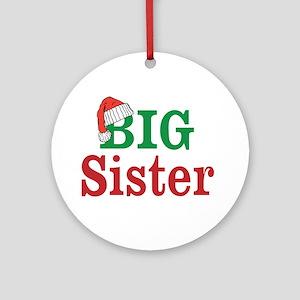 Christmas Big Sister Ornament (Round)