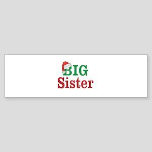 Christmas Big Sister Bumper Sticker