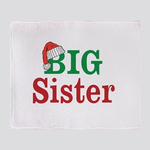 Christmas Big Sister Throw Blanket
