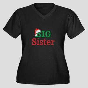 Christmas Big Sister Plus Size T-Shirt