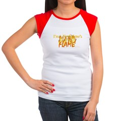 NEW!! Firefighter's Flame Cap Sleeve T-Shirt