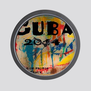 cuba 2014 calendar Wall Clock