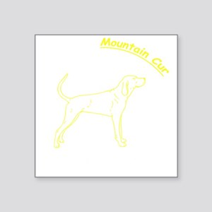 "notadog_mountaincurwh Square Sticker 3"" x 3"""