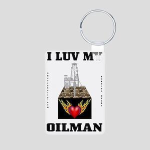 I Luv My Oilman 2a BC use  Aluminum Photo Keychain