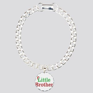 Christmas little Brother Charm Bracelet, One Charm