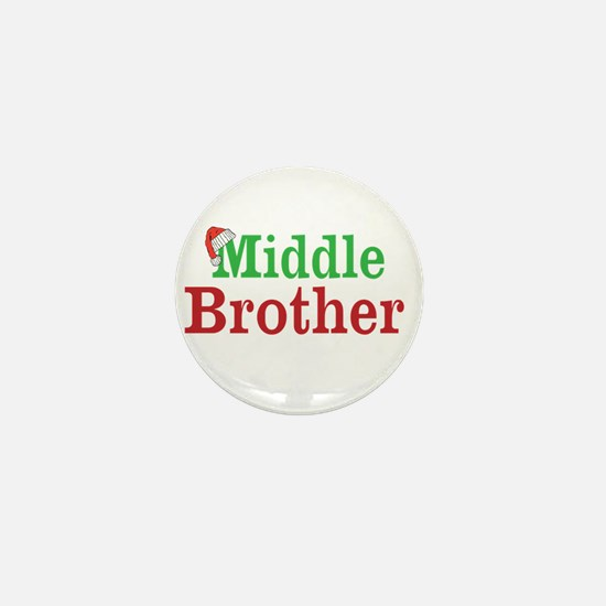 Christmas Middle Brother Mini Button