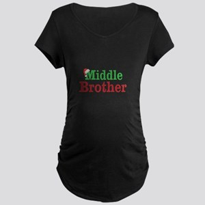 Christmas Middle Brother Maternity T-Shirt