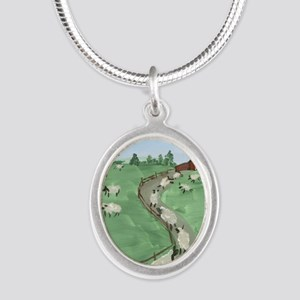 Street of Dreams Silver Oval Necklace