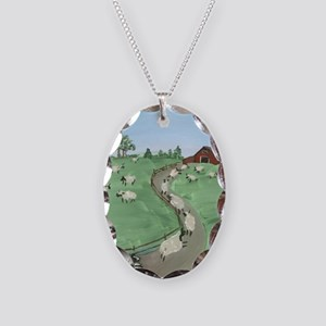Street of Dreams Necklace Oval Charm