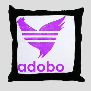 adob-pur Throw Pillow