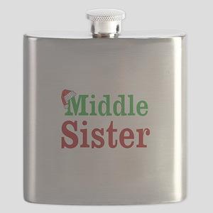 Christmas Middle Sister Flask