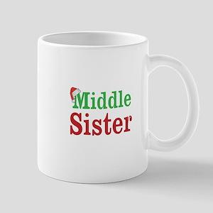 Christmas Middle Sister Mugs