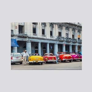 Cars of Havana Rectangle Magnet