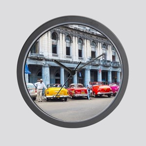 Cars of Havana Wall Clock